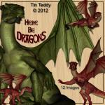 Dragons Digital Clip Art fo..