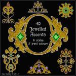 Jewelled Accents - 40 Ornat..