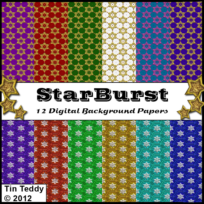 Starburst Digital Backing Papers