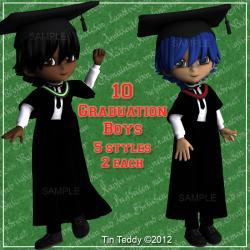 Graduation Clip Art - School or College Boys - Digital ClipArt for Scrapbooking, Card Making & Custom Option