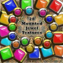 Mounted Jewels - Handy Little Accents - Digital Clip Art for Scrapbooking, Birthday Card Making and More