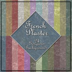 French Plaster Digital Paper - 24 Shabby Style Backgrounds for Scrapbooking, Birthday Card Making &amp; More