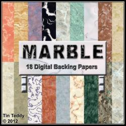 Marble Backgrounds - Digital Backing Papers for Scrapbooking, Birthday Card Making &amp; More