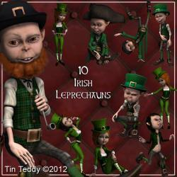 Irish Leprechauns Digital Clip Art for Scrapbooking, Card Making, St Patrick's Day and More